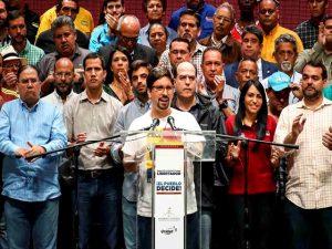 MUD anuncia su comando de campaña para las regionales 1