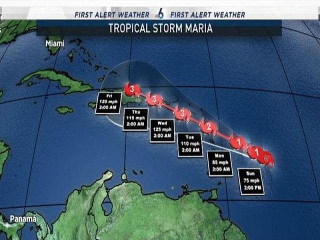 Inameh alerta sobre el paso del huracán María en costas venezolanas 6