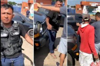 """""""Hagan su cola, chavistas de mi*rda"""": El altercado que se armó en una estación de gasolina cuando supuestos GNB intentaron colearse (VIDEO) 1"""