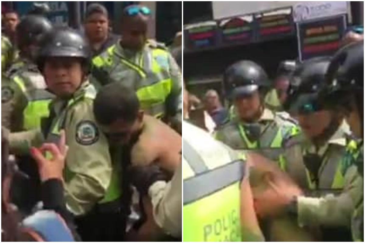 EN VIDEO: Joven convulsionó cuando funcionarios de PoliChacao se lo llevaban detenido 2