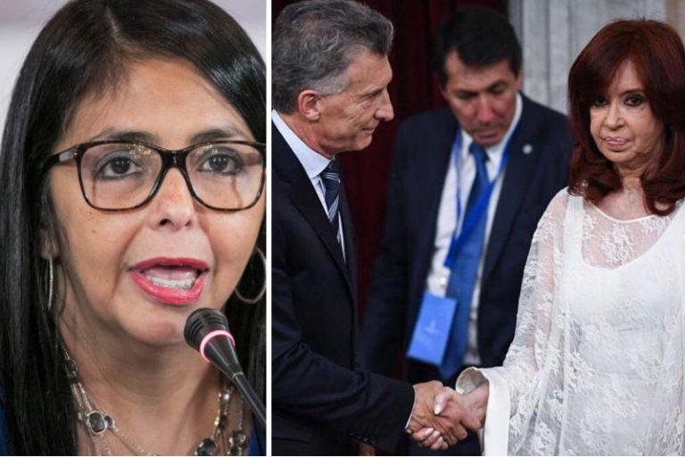 Delcy Rodríguez soltó su veneno contra Mauricio Macri (IMAGEN) 22