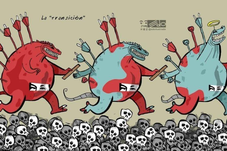 """La caricatura de EDO que lanza una dura crítica a la """"transición"""" en Venezuela 1"""