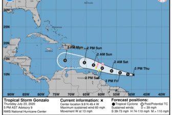 Tormenta tropical Gonzalo amenaza con fuertes lluvias a Trinidad y Venezuela 1