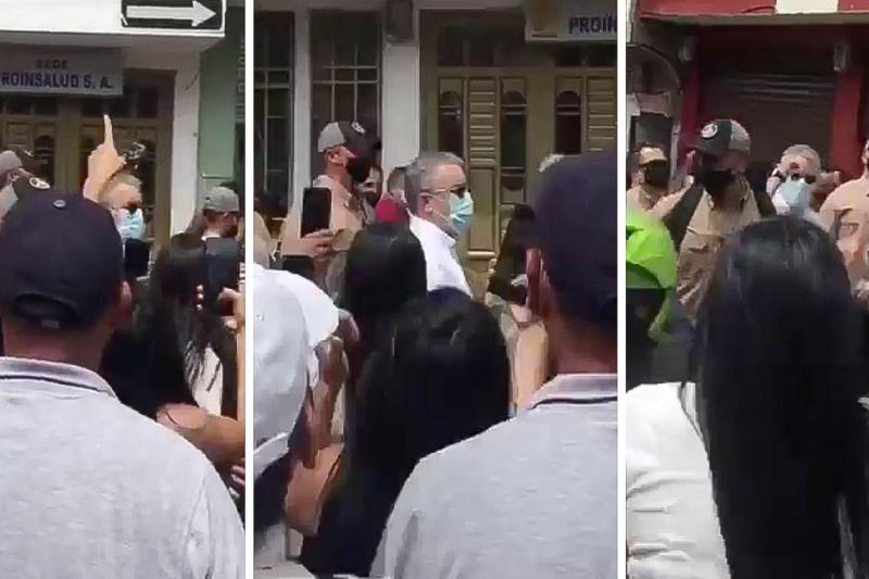 """""""No estamos todos, nos faltan 9"""": Las arengas en contra de Iván Duque en Samaniego 15"""