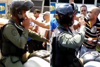 GNB fue arremetido por conductores que hacían cola en estación de servicio (Video) 1