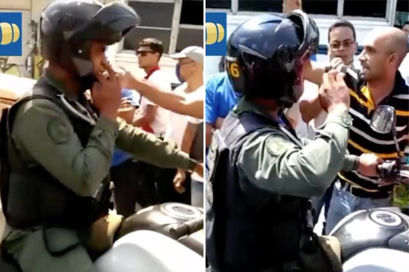 """""""¡Negativo!"""": GNB se rebeló ante su teniente, quien traficaba gasolina en Bolívar (Video) 3"""