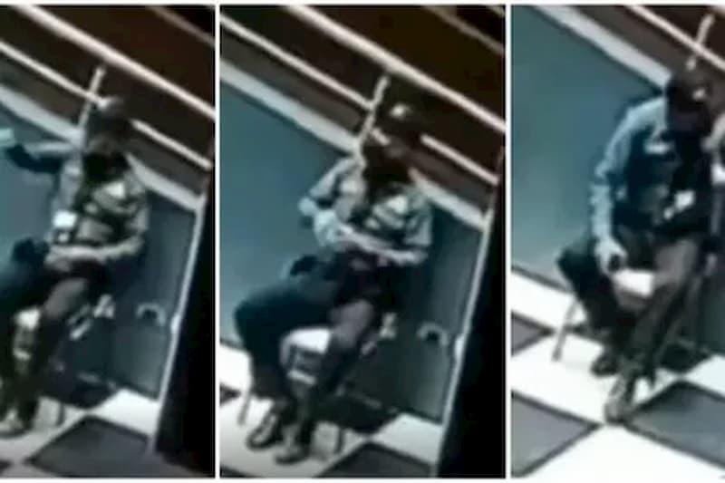 Captan a vigilante hablando ¿con fantasma? en centro comercial de Ibagué (video) 17