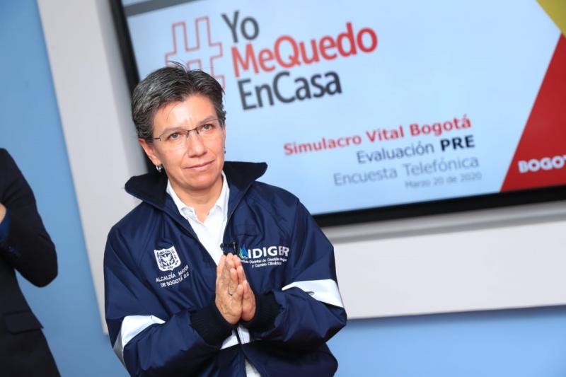Claudia López descarta toque de queda en Bogotá este jueves 20