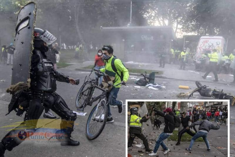 En total:  7 muertos, 140 heridos, y 48 puestos policiales CAI destruidos por disturbios 22