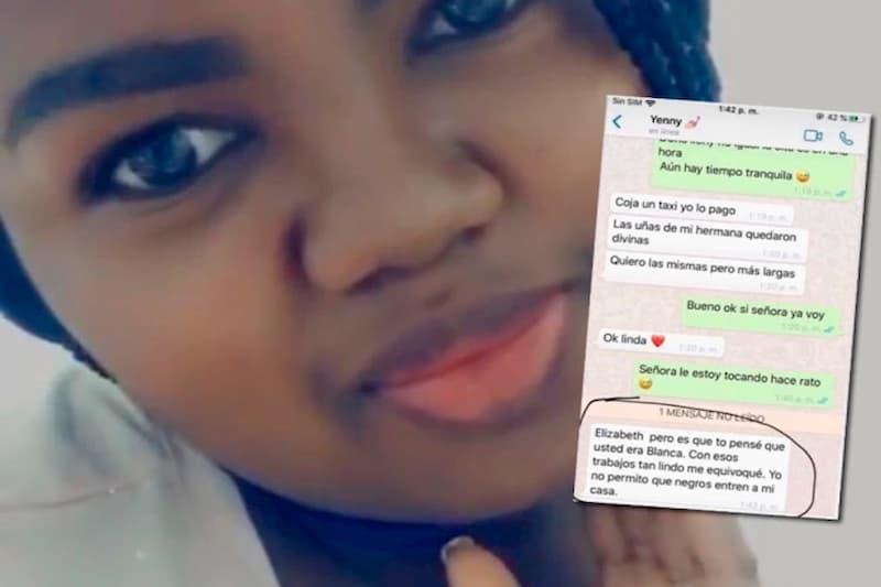 Una mujer no la dejaron entrar a una casa en la que habían contratado su trabajo por ser negra (tweet) 1