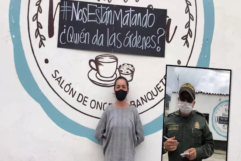 Policías la agarran contra mujer que publicó #NosEstánMatando (video) 2