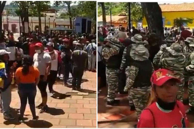 Candidatos del PSUV ignoran el distanciamiento y se aglomeraron en Petare para hacer campaña (video) 1