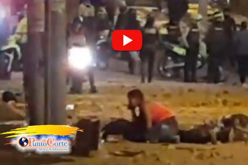 Momento en que cae muerto un manifestante en Verbenal 14