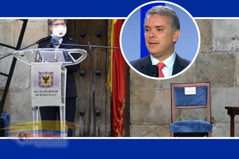 Polémica en Colombia por la silla vacía del Presidente Duque en acto de perdón 2