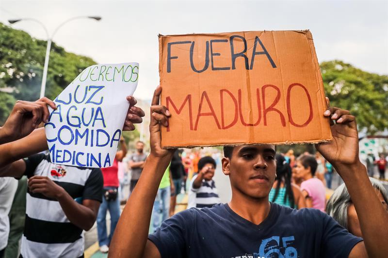 Protestas en Puerto Ordaz por escasez de combustible y fallas con el abastecimiento de agua (Video) 1