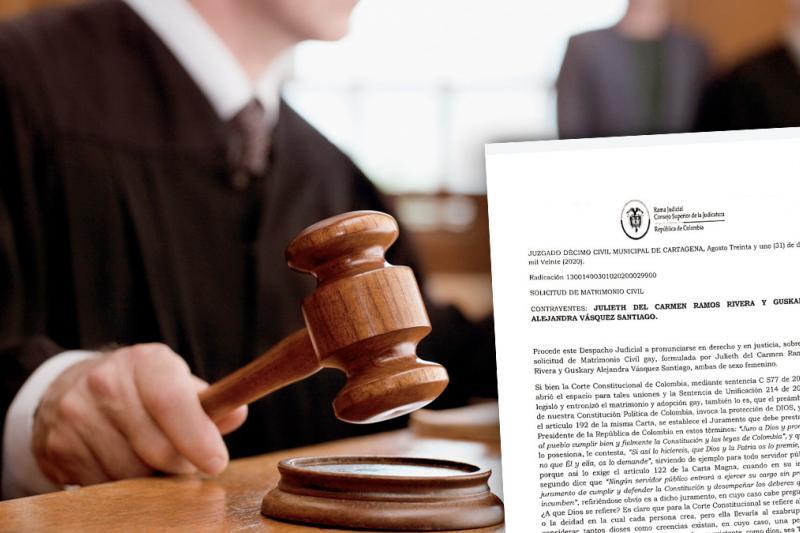 Juez civil de Cartagena rechaza matrimonio homosexual 2