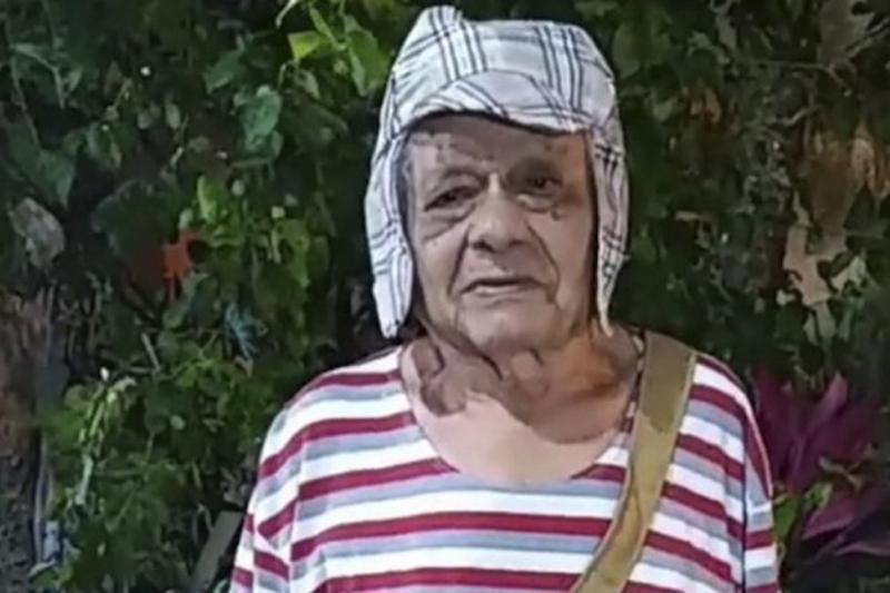 """Tierno """"Abuelito"""" se vistió como el Chavo del 8: Celebró sus  92 años 39"""
