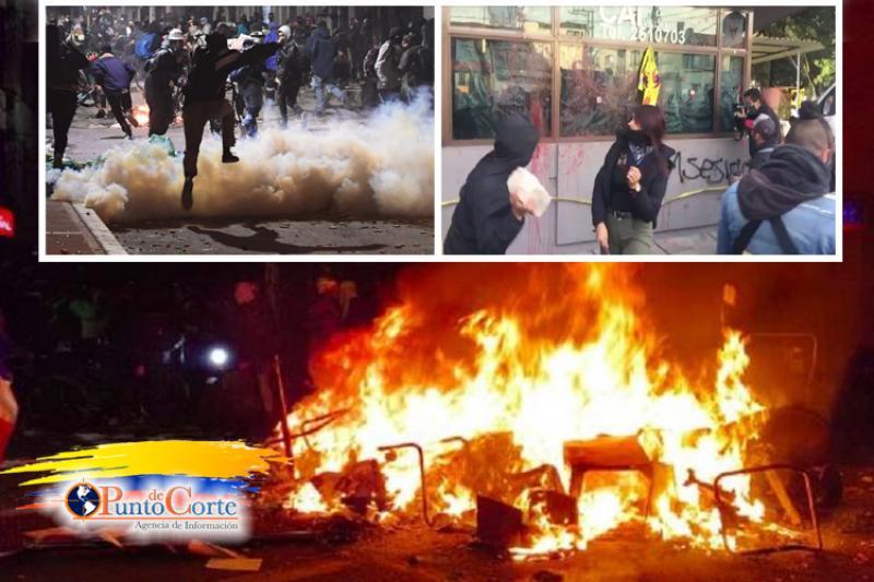 Violentos disturbios en Bogotá en protesta contra la policía 13