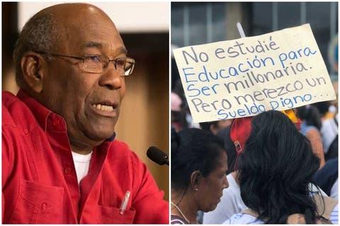 """Aristóbulo Istúriz a los maestros: """"¡Claro que el salario es muy malo, pero no porque Maduro sea un desgraciado!"""" 1"""