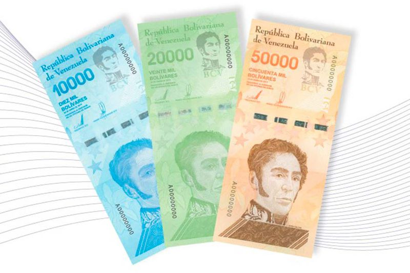 Maduro sacará nuevos billetes de 100 mil bolívares equivalentes a 0,23 dólares 7