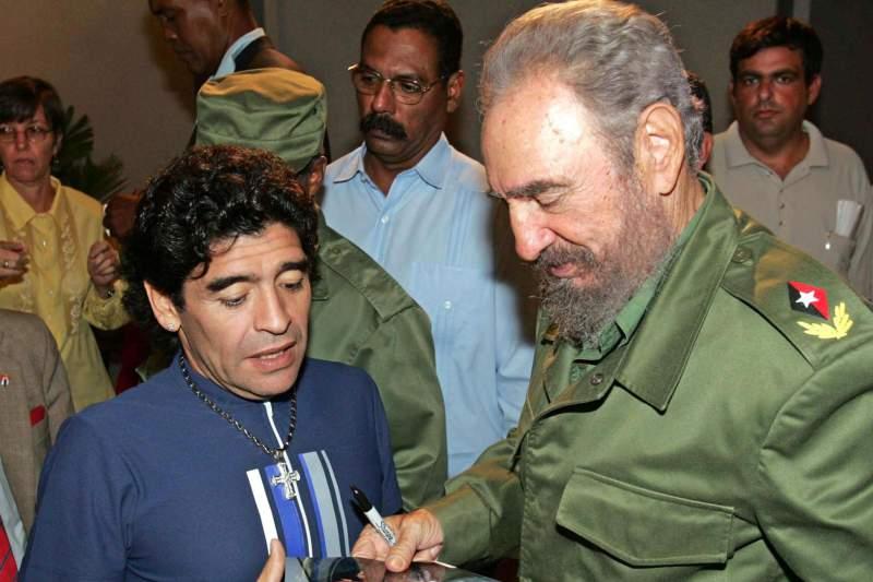 El astro argentino murió el mismo día que el dictador cubano Fidel 1