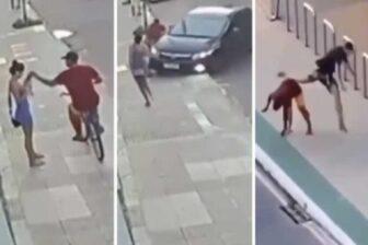 Hombre se da cuenta del robo a su novia y arrolla al delincuente (Video) 1