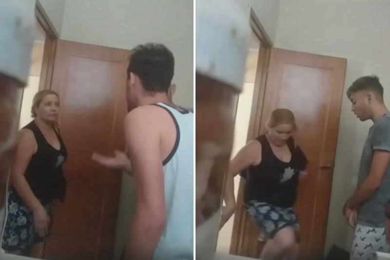 """""""Anda a lavarte el cul*, pelotudo"""": así respondió la mujer que desalojó a los venezolanos de una habitación en Argentina (Video) 1"""