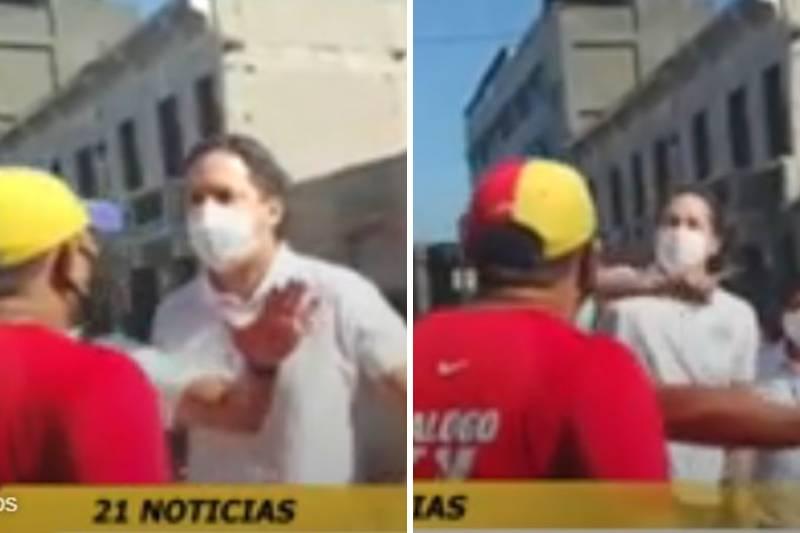 «Los voy a expulsar a todos, delincuente de m*erda»: Candidato a la presidencia de Perú se enfrentó a un venezolano en plena calle (Video) 15
