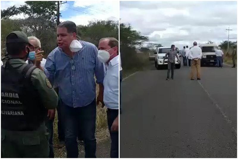 GNB atravesó gandola en la vía para impedir movilización de diputados en Anzoátegui 1