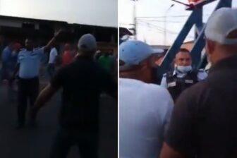 Policías amenazaron y dispararon al aire en medio de una protesta por combustible (Video) 1
