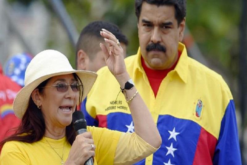 Las cámaras de VTV pillaron a Maduro discutiendo con Cilia 1