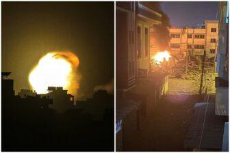 Las impresionantes imágenes del bombardeo israelí a Gaza durante la madrugada 1