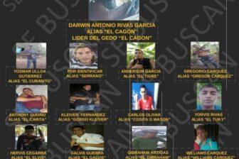 GNB emite comunicado en búsqueda de integrantes de la banda delictiva «El Cagón»