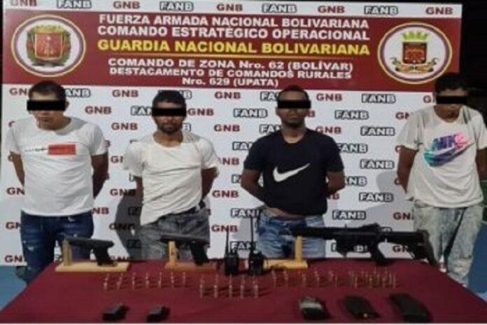 Desmantelan banda «El Ciego» con arma de guerra en Bolívar 1