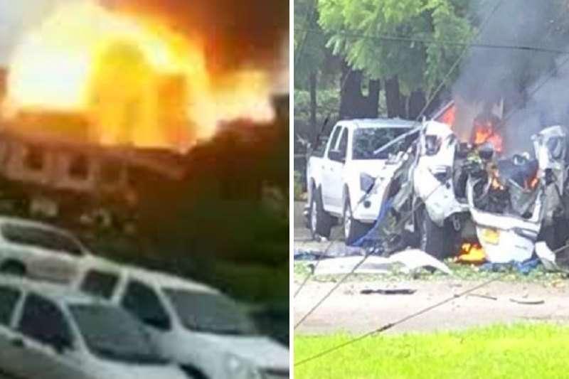 Carro bomba explotó dentro de brigada del Ejército colombiano en Cúcuta (Videos) 1
