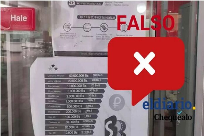 Fake News: Empezó a rodar por redes sociales una imagen sobre una nueva reconversión monetaria 1