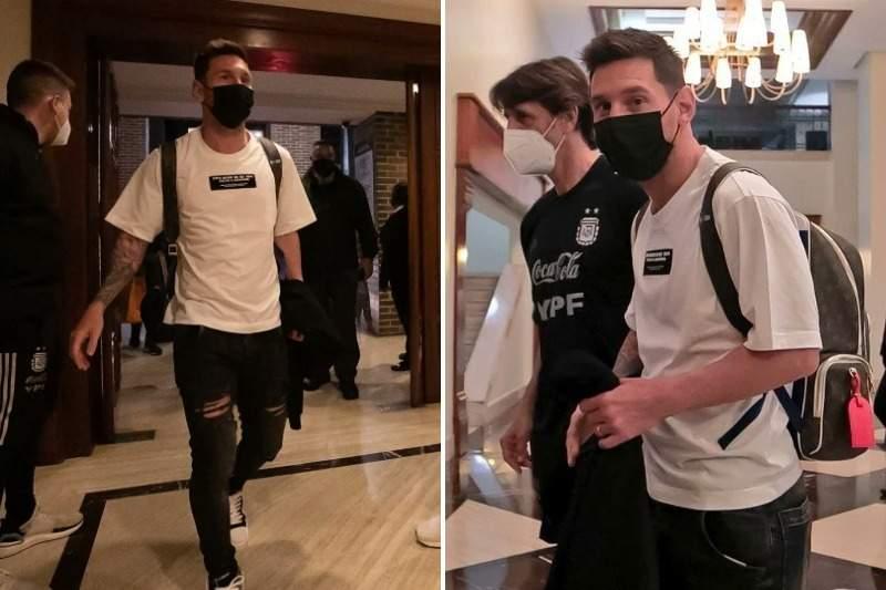 Messi, Di María y Paredes llegaron a Caracas para blindar a la selección argentina que se enfrentará a la Vinotinto 1